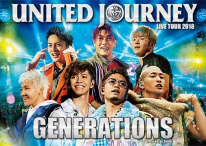 Cover del bluray 'GENERATIONS LIVE TOUR 2018 UNITED JOURNEY (2BD Limited Edition)' di GENERATIONS from EXILE TRIBE